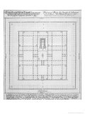 "Plan of the Temple of Solomon  Jerusalem  Fron ""Entwurf Einer Historischen Architektur "" 1721"