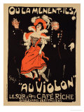 "Reproduction of a Poster Advertising the ""Cafe Riche "" Boulevard Des Italiens  1897"