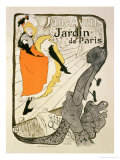 Reproduction of a Poster Advertising &quot;Jane Avril&quot; at the Jardin De Paris  1893