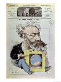 "Caricature of Jules Verne from ""L'Eclipse "" 13th December 1874"