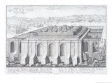 "The Temple of Solomon  Jerusalem  from ""Entwurf Einer Historischen Architektur "" 1721"