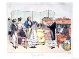 Thanks to the Dowry  Reading a Marriage Contract at the Lawyer Office  circa 1830