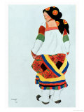 Costume Design for a Peasant Girl  1922