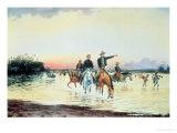 Bolivar and Santander at the Battle of Llanos
