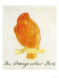 The Orange Colour Bird  from &quot;Sixteen Drawings of Comic Birds&quot;