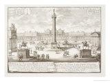 """Trajan's Square Rome  from """"Entwurf Einer Historischen Architektur"""""""