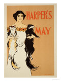 Reproduction of a Poster Advertising the May Issue of &quot;Harper&#39;s Magazine &quot; 1897