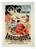 Reproduction of a Poster Advertising an &quot;Ambassadors&#39; Concert &quot; Champs Elysees  Paris  1884