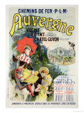 "Reproduction of a Poster Advertising the ""Auvergne Railway "" France  1892"