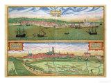 "Elsenor and Ripen  from ""Civitates Orbis Terrarum"" by Georg Braun and Frans Hogenburg  circa 1572"