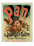 Reproduction of a Poster Advertising &quot;Pan &quot; a Journal of Satire  Edited by Alfred Thompson