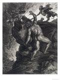 Sisyphus Pushing His Stone up a Mountain  1731