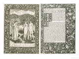 Adam and Eve  from &quot;The Works of Chaucer &quot; Published by Kelmscott Press  1896