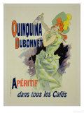 "Reprodution of a Poster Advertising ""Quinquina Dubonnet "" 1895"