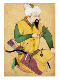 A Turkoman or Mongol Chief Holding an Arrow  from the Large Clive Album  1591-92