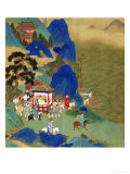 Emperor Ch'In Wang Ti Travelling in a Palanquin  from a History of Chinese Emperors