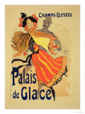 "Reproduction of a Poster Advertising the ""Palais De Glace "" Champs Elysees  Paris  1896"