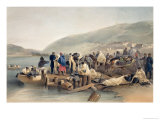 "The Embarkation of the Sick at Balaklava  Plate from ""The Seat of War in the East"""