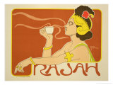 Reproduction of a Poster Advertising the &quot;Cafe Rajah &quot; 1897