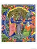 "Historiated Initial ""E"" Depicting St John the Baptist"