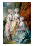 The Three Eldest Daughters of George III: Princesses Charlotte  Augusta and Elizabeth in 1784