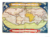 Map Charting Sir Francis Drake's Circumnavigation of the Globe