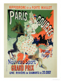 "Reproduction of a Poster Advertising ""Paris Courses"""
