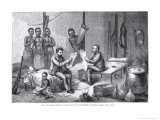 Dr David Livingstone and Mr Henry Morton Stanley Receiving Newspapers in Central Africa