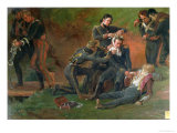 Baron Jean Dominique Larrey Tending the Wounded at the Battle of Moscow  7th September 1812