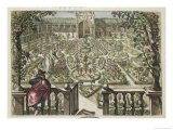 Spring Garden  from &quot;Hortus Floridus &quot; Published 1614-15