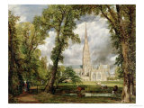 View of Salisbury Cathedral from the Bishop&#39;s Grounds  circa 1822