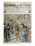 "Front Cover of a Serialisation of ""The Three Musketeers"""