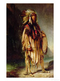 A North American Indian in an Extensive Landscape  1842