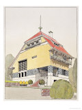 "Study for Olbrich's House  Darmstadt  from ""Architektur Von Olbrich "" Published circa 1904-14"