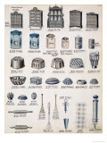 Kitchen Storage and Utensils from a Trade Catalogue of Domestic Goods and Fittings  circa 1890-1910