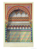 """Elevation of an Alcove in the Pateo Del Agua  Alhambra  from """"The Arabian Antiquities of Spain"""""""