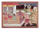 The Asura Kumbha and His Court of Demons  circa 1800