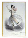 """Maria Taglioni in """"La Sylphide  Souvenir D'Adieu """" circa 1832"""
