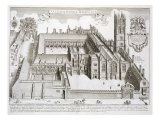 "Magdalen College  Oxford  from ""Oxonia Illustrata "" Published 1675"