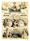 "Poster Advertising ""La Vie Parisienne "" an Operetta by Jacques Offenbach 1886"
