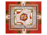 Tantric Miniature Depicting Three Women Forming a Chain