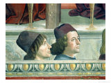 Portraits of Matteo Franco and Luigi Pulci from the Cycle of the Life of St Francis  circa 1483