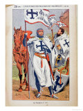 "The Knights Templar  Illustration from ""Histoire De France"" by Jules Michelet circa 1900"