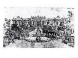 Palace of the Calm of the Sea and the Water Clock  Garden of Yuan Ming Yuan  Peking  1783-86