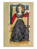 Justice  Tarot Card from the &quot;Charles Vi&quot; or &quot;Gringonneur&quot; Deck