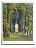 Vista in the Gardens of Teddesley  from &quot;Gardens of England &quot; Published 1857