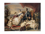 Queen Victoria and Prince Albert with Five of the Their Children  1846
