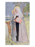St Bridget of Sweden Illustration from a Book on Famous Women of Sweden  1900