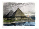 "The Pyramids of Giza  from a Series of the ""Seven Wonders of the World"""