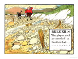 "Rule XII (V): the Player Shall be Entitled to Find His Ball  from ""Rules of Golf"""